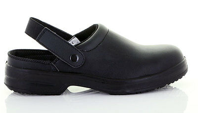 Anti Slip Black Clog Food Industry Catering Hospital Kitchen Chefs Nursing Fw82