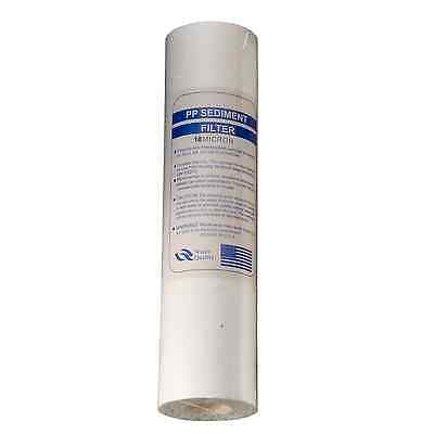 """10"""" 10 Micron PP Particle Filter For RO, Removes Sediment/Particles/Dirt/Rust"""