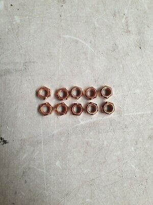 M8 Copper Flashed Exhaust Manifold Locking Nuts X 10 High Temp 8.0Mm