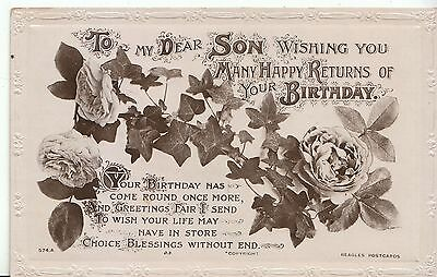 Greetings Postcard - To My Dear Son - Many Happy Returns on Your Birthday ZZ1379