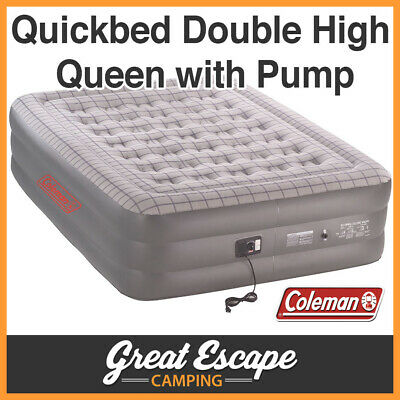 Coleman Quickbed Airbed Double High Queen With Pump