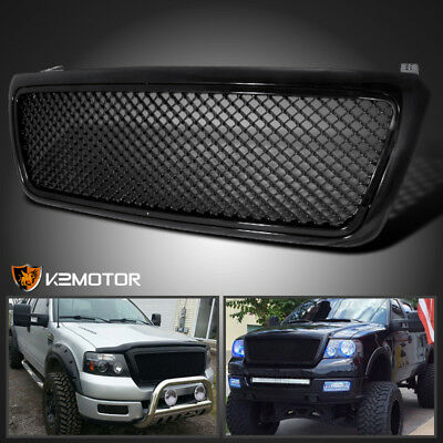 2004-2008 Ford F150 F-150 Black Mesh Front Replacement Grill Grille