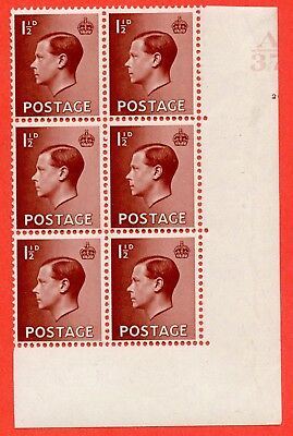 SG. 459. P3. 1½d Red-Brown. A lightly mounted mint. Control  A37 cylinder 20.