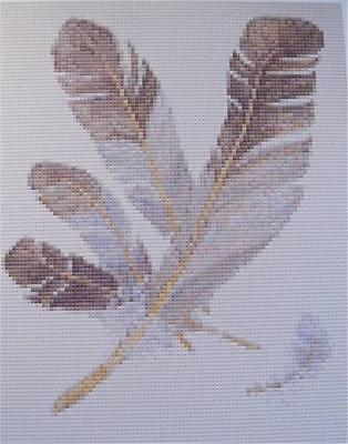 TAPESTRY CHART - BIRD FEATHERS by WILLIAMHOPE DESIGNS......027