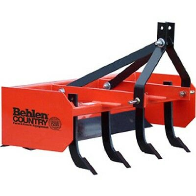 NEW! 4' Box Blade Tractor Attachment Category 1 Pins; Category 0 Spacing!!