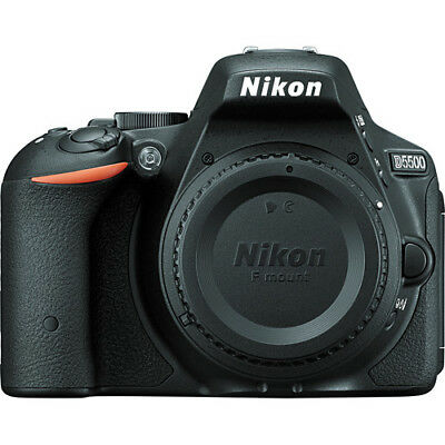 Nikon D5500 Digital SLR Body Only 24.2MP DX-Format CMOS Sensor (Black) Brand New