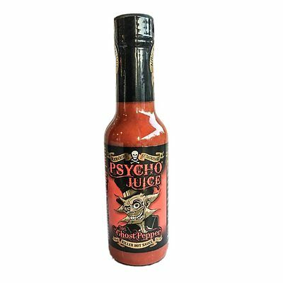 """Psycho Juice"" - 70% Ghost Pepper - Killer HOT Chilli Sauce!"
