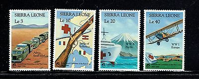 Sierra Leone 1005-1008, 1988 Red Cross And Red Crescent, Mnh, (Id4004)