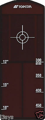 Topcon Lrg Red Reflective Pipe Target Insert for Model TP-L4A/AV w/Priority Mail