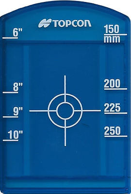 """Topcon Blue Pipe Target Insert  for Model TP-L4BG- Small 6-12"""" or 150-250mm"""
