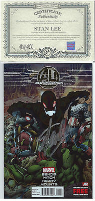 Age Of Ultron  Book One Foil Variant Signed Stan Lee W/ Coa Avengers 2 Film