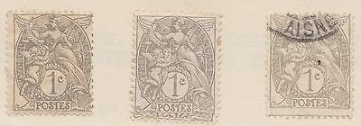 (FR3) 1900 France 15mix peace BLANC 1c to10c