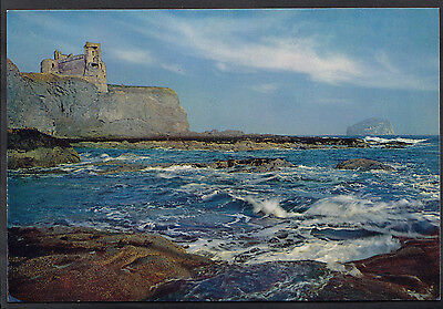Scotland Postcard - Tantallon Castle and The Bass Rock, East Lothian  LC4152