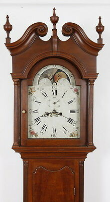 Matthew Egerton New Brunswick NJ Cherry Chippendale Tall Case Clock orig label !