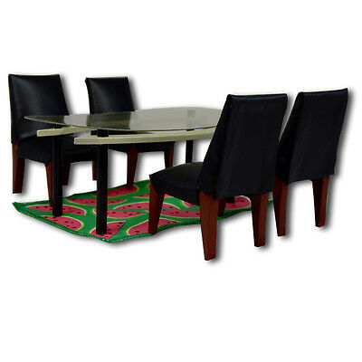Bozart The Kaleidoscope Doll House Dining Room Table & Chairs 1:12 Scale 30026