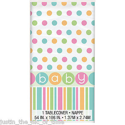 Baby Shower UNISEX Party Tableware Supplies Girls Boys Plastic Tablecover