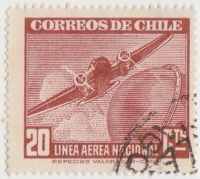 (CH332) 1941 Chile 20c red Potez 56