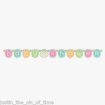 Baby Shower UNISEX Pastel Party Decorations Girls Boys JOINTED Banner