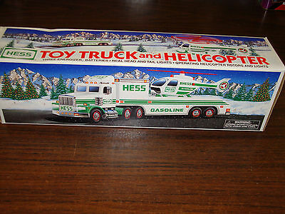 1995 Hess---Toy Truck & Helicopter