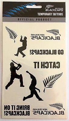 New Zealand Blackcaps Cricket World Cup Temporary Team Tattoos