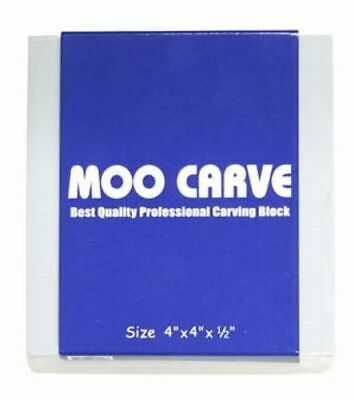 MOO Carve block for printing (linocut) or stamp making - 4in x 4in