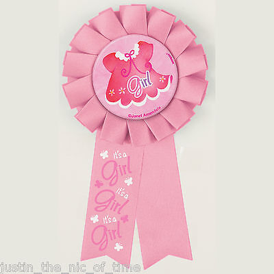 AWARD RIBBON For Baby Shower GIRLS Pink Party Clothesline Range Ideal For Games