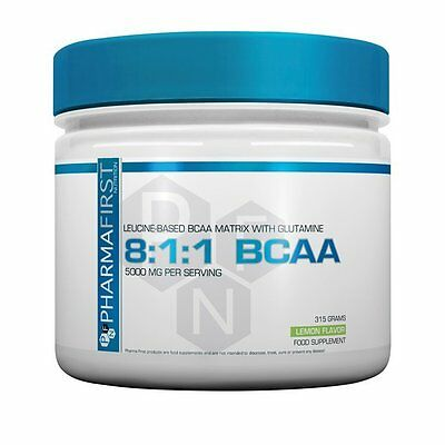 BCAA 8:1:1 315g Pharma First Nutrition Poudre Construction Musculaire