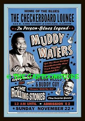 "MUDDY WATERS, BUDDY GUY,ROLLING STONES - Flexible Fridge Magnet Approx 5"" x 4"""