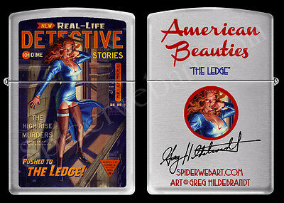 Zippo Very Rare Greg Hildebrandt On The Ledge Pinup Hand Signed Lighter New