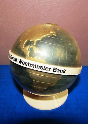 Vintage National Westminster Bank Promotional Globe Savings Bank - Ships from US