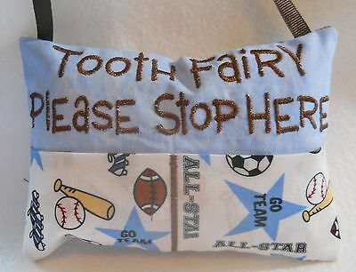 Personalized Handmade Sports Tooth Fairy Pillow