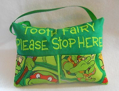 Personalized Handmade Turtles Tooth Fairy Pillow