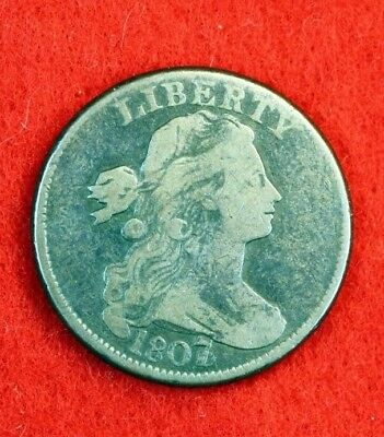 Great Estate Find!! 1807/6 Drapped Bust Large Cent!! D0519