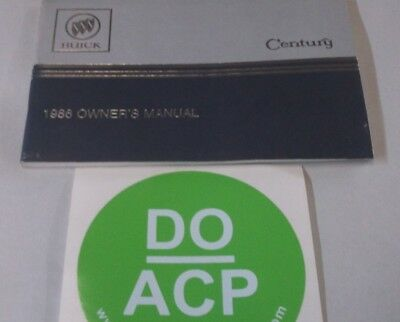 1986 BUICK CENTURY OWNER'S MANUAL