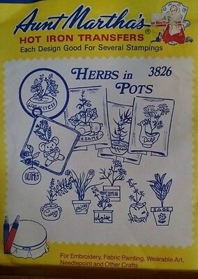 Vintage Aunt Martha's Hot Iron Transfers Patterns for Embroidery & Crafts Unused