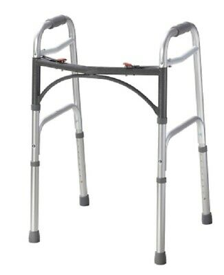 "McKesson Aluminum Silver Folding Adult Walker 25 to 32"" H 146-10201-4"
