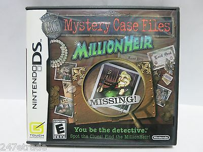 Nintendo DS Mystery Case Files: MillionHeir (Nintendo DS, 2008) COMPLETE TESTED