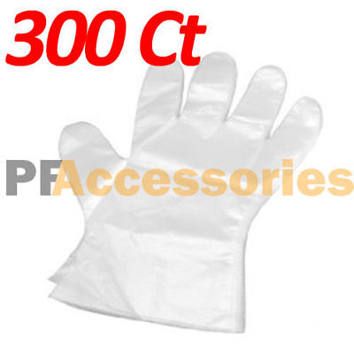 300 Pcs Disposable Sanitary Plastic Glove Restaurant Home BBQ Cook Kitchen Food