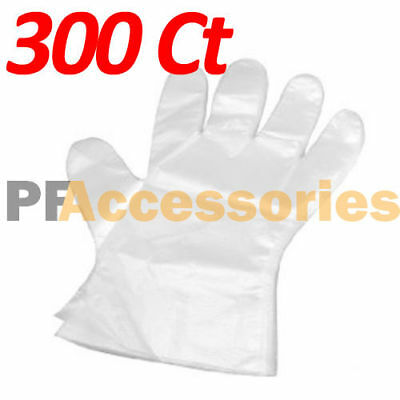 300 Pcs Transparent Disposable Plastic Glove Food Restaurant Home BBQ Kitchen
