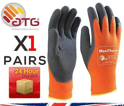 1X ATG MaxiTherm 30-201 Palm Coated Cold Temperature work gloves – Orange 9 L