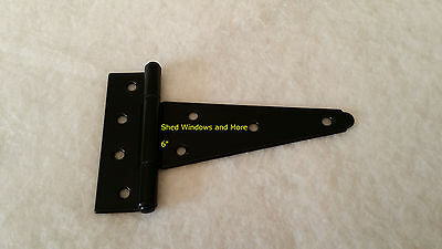 """6"""" Heavy Duty Shed T Hinges w/Screw (set of 50) Gate Shed Barn Door Playhouse"""