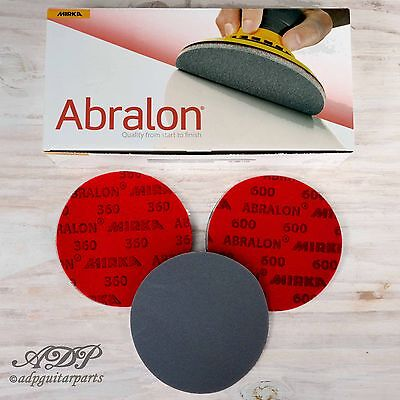 3 x SANDING DISC 150mm ABRASIVE ABRALON MIRKA Support MOUSSE EGRENAGE POLISSAGE