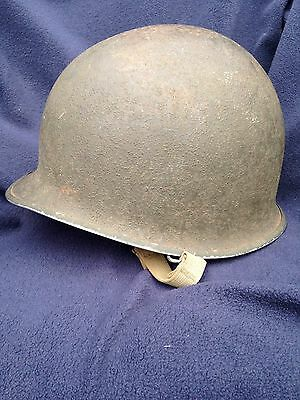 WW2 WWII M1 M-1 Helmet with Liner 1943 - 1944 Authentic Original Set Family Own
