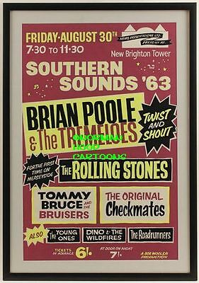 "ROLLING STONES,BRIAN POOLE TREMELOES- MINI-POSTER PRINT 7"" x 5"""