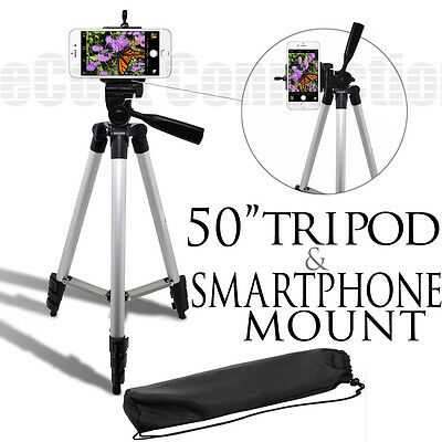 50 Inch Tripod + Smartphone Mount For Apple iPhone 6 6 plus 5c 5s 5 & more