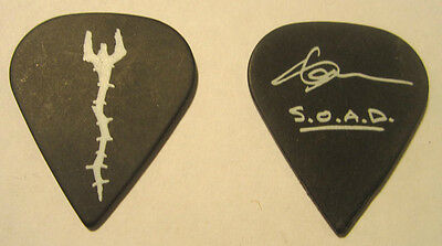 SHAVO ODADJAIN from SYSTEM OF A DOWN Guitar Pick 2005 Tour Black