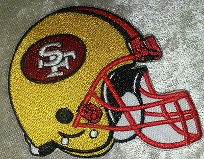 "San Francisco 49ers Helmet 3.5"" Iron On Embroidered Patch ~FREE Ship"