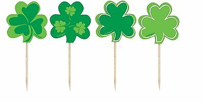 8 Shamrock Pick St Patrick Day Decoration Cake Baking Tableware Celebrations