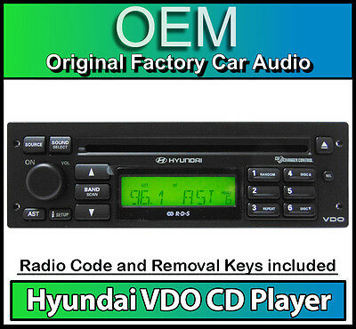 Hyundai Matrix CD player radio, VDO car stereo headunit with Removal Keys