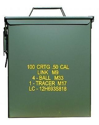 US Army Military Munition Kiste AMMO BOX STEEL Behälter oliv
